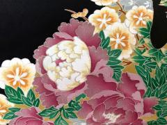 Vintage Japanese Formal Black Silk Kimono - 1550425