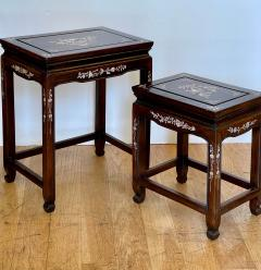 Vintage Japanese Mother of Pearl Inlaid Rosewood Nesting Tables - 1999869