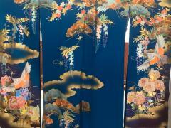 Vintage Japanese Silk Kimono with Designs - 1539918