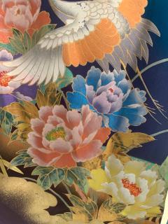Vintage Japanese Silk Kimono with Designs - 1539926