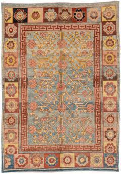Vintage Khotan Style Tribal Wool Rug - 1558422