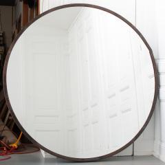 Vintage Large Round Metal Framed Mirror - 1950643
