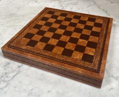 Vintage Leather Chess Board Italy 1960s - 2111674