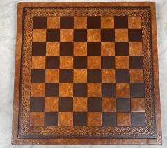 Vintage Leather Chess Board Italy 1960s - 2111676