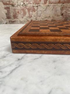 Vintage Leather Chess Board Italy 1960s - 2111679