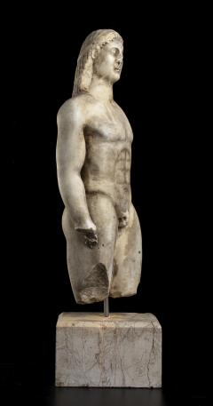 Vintage Marble Nude Figurative Sculpture of Kouros After the Antiques Grand Tour - 2000811