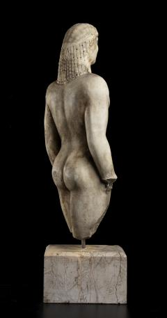 Vintage Marble Nude Figurative Sculpture of Kouros After the Antiques Grand Tour - 2000813