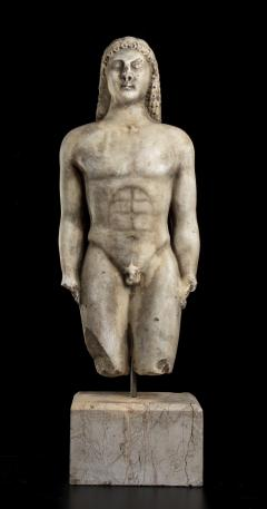 Vintage Marble Nude Figurative Sculpture of Kouros After the Antiques Grand Tour - 2000815