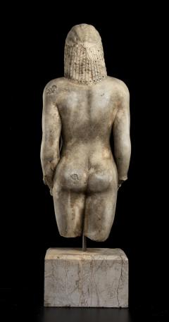 Vintage Marble Nude Figurative Sculpture of Kouros After the Antiques Grand Tour - 2000816