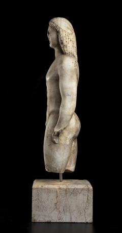 Vintage Marble Nude Figurative Sculpture of Kouros After the Antiques Grand Tour - 2000817