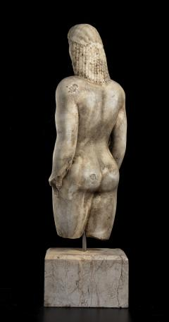Vintage Marble Nude Figurative Sculpture of Kouros After the Antiques Grand Tour - 2000819