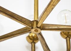 Vintage Mid Century Italian Brass Chandelier - 2057752
