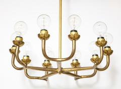 Vintage Mid Century Italian Brass Chandelier - 2057753