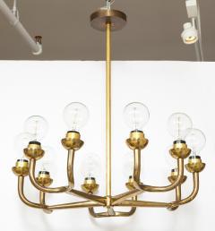 Vintage Mid Century Italian Brass Chandelier - 2057756