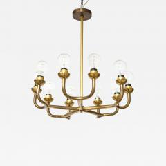 Vintage Mid Century Italian Brass Chandelier - 2065017
