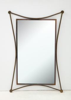 Vintage Mid Century Italian Brass Mirror - 1866547