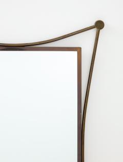 Vintage Mid Century Italian Brass Mirror - 1866548