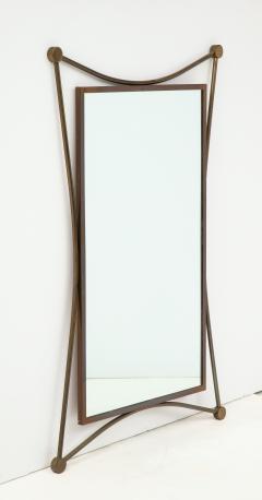 Vintage Mid Century Italian Brass Mirror - 1866551