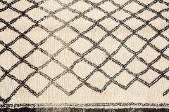 Vintage Moroccan Beni Ouarain of White Rug - 338305