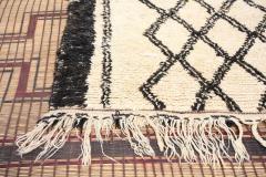 Vintage Moroccan Beni Ouarain of White Rug - 338308