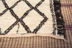 Vintage Moroccan Beni Ouarain of White Rug - 338310