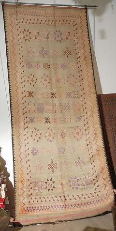 Vintage Moroccan Berber Tribal Rug circa 1960 - 338573