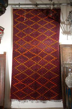 Vintage Moroccan Large Pile Purple Rug - 338561