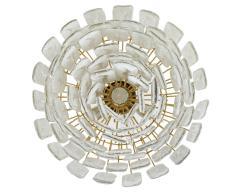 Vintage Murano Frosted Glass Pendant Light AV Mazzega Attribution - 869886
