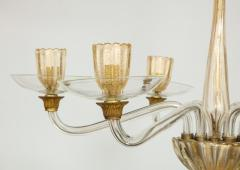 Vintage Over sized Six Arm Murano Chandelier - 1067593
