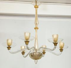 Vintage Over sized Six Arm Murano Chandelier - 1067596
