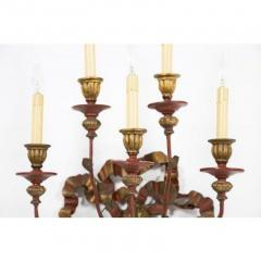 Vintage Painted Giltwood Bow Sconces A Pair - 2052360