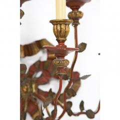 Vintage Painted Giltwood Bow Sconces A Pair - 2052361