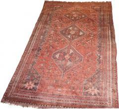 Vintage Persian Qashqai Carpet - 1180435