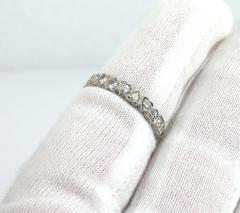Vintage Platinum Marquise Damond and Emerald Ring - 1105881