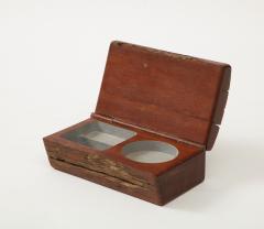 Vintage Rustic Hinge Lidded Wood Box - 1869803