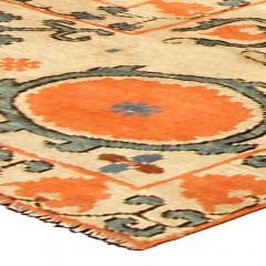 Vintage Samarkand Khotan Carpet - 490357