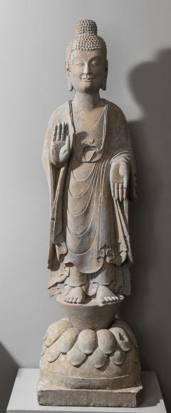 Vintage Sandstone Sculpture of Buddha in the style of the Tang And Wei Dynasties - 2000833