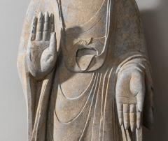 Vintage Sandstone Sculpture of Buddha in the style of the Tang And Wei Dynasties - 2000835