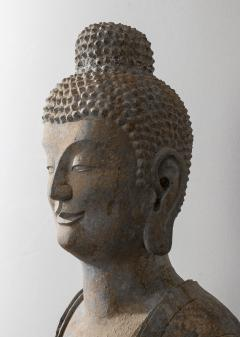 Vintage Sandstone Sculpture of Buddha in the style of the Tang And Wei Dynasties - 2000837