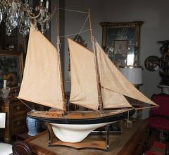 Vintage Schooner Model Sail Boat Patsy Ann  - 507019