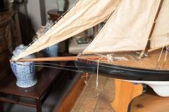 Vintage Schooner Model Sail Boat Patsy Ann  - 507021