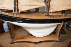 Vintage Schooner Model Sail Boat Patsy Ann  - 507022