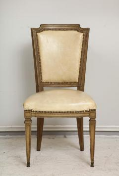Vintage Set of Six Louis XVI Style Painted Dining Room Chairs - 2066996