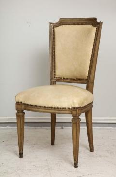 Vintage Set of Six Louis XVI Style Painted Dining Room Chairs - 2066997