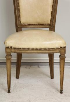 Vintage Set of Six Louis XVI Style Painted Dining Room Chairs - 2067000
