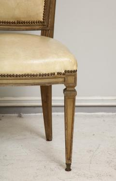 Vintage Set of Six Louis XVI Style Painted Dining Room Chairs - 2067001