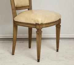 Vintage Set of Six Louis XVI Style Painted Dining Room Chairs - 2067002