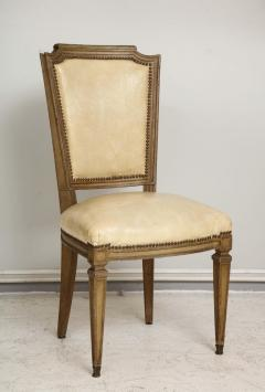 Vintage Set of Six Louis XVI Style Painted Dining Room Chairs - 2067003