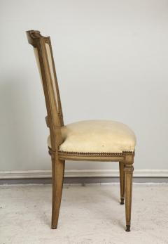 Vintage Set of Six Louis XVI Style Painted Dining Room Chairs - 2067004