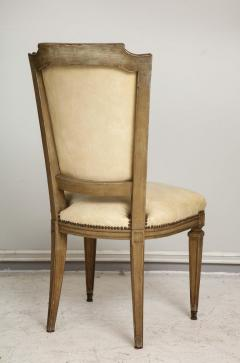 Vintage Set of Six Louis XVI Style Painted Dining Room Chairs - 2067005